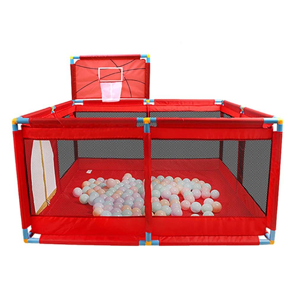 贈り物 -ベビーサークル 赤のベビーサークル - : 赤ん坊の射撃の塀、幼児の双子の安全ゲームのPlayard、バスケットボールフープが付いている子供の保証塀 (サイズ さいず - Playpen+200ball) : Playpen+200ball) Playpen+200ball B07P6FLKR6, 坂北村:c4cfcbc7 --- a0267596.xsph.ru