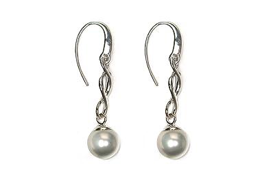 Adara Silver Long Twist Drop Earrings EhlATe