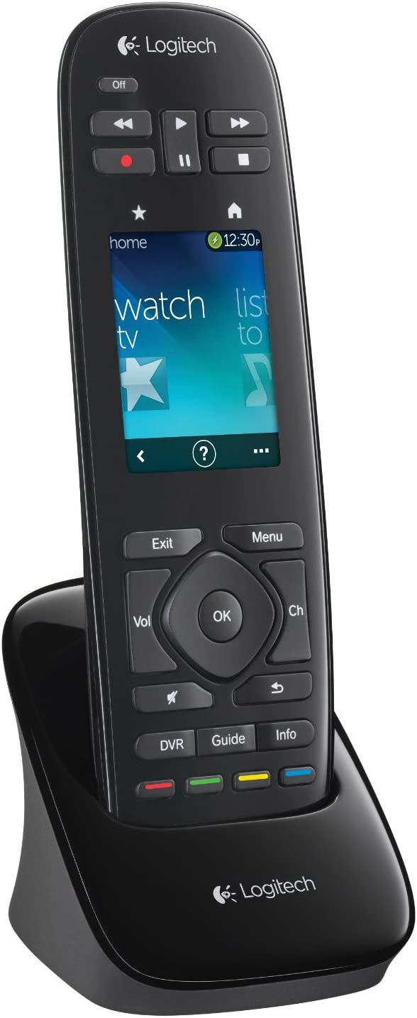 LOGITECH HARMONY TOUCH REMOTE CONTROL BLACK 915-000252 w// Swipe /& Touch Screen