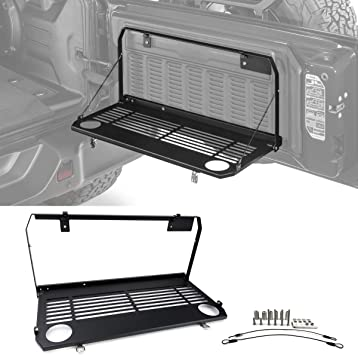 Rear Multi-Purpose Tailgate Mounted Table for 18-19 Jeep Wrangler JL Accessories