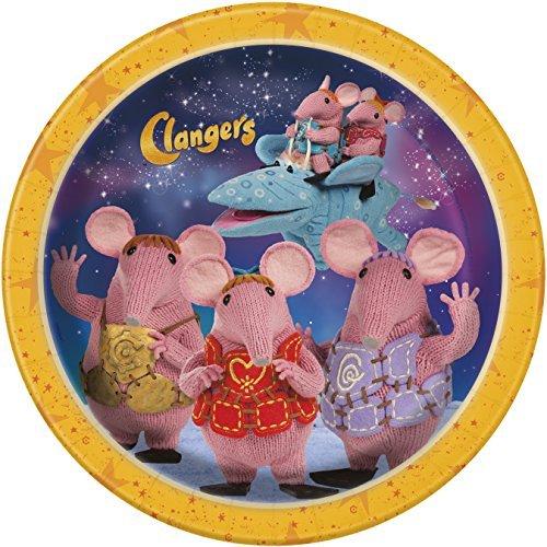 23cm 23cm 23cm Clangers Party Plates by Unique Party 0da8f2