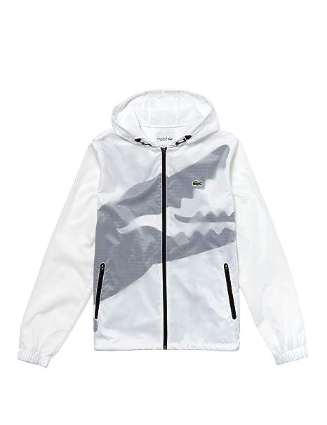 3443effada Lacoste Giacca a Vento BH4406 Uomo Bianco: Amazon.it: Abbigliamento