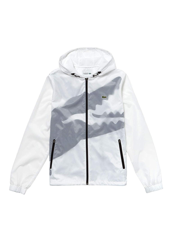 Lacoste Mens Sport Windbreaker White in Size EU 54 / XL ...