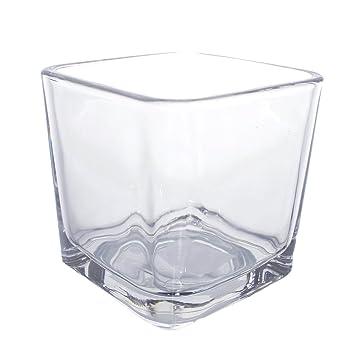 TJB Basics flor cristal jarrón decorativo pieza central para hogar o boda por las importaciones Royal