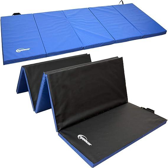 EYEPOWER Colchoneta de Entrenamiento Gimnasia XXL 300x100x5cm Plegable Azul