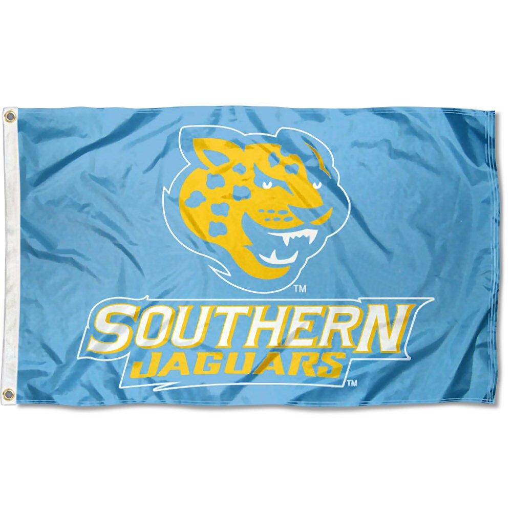 Southern Jaguars Light Blue Flag