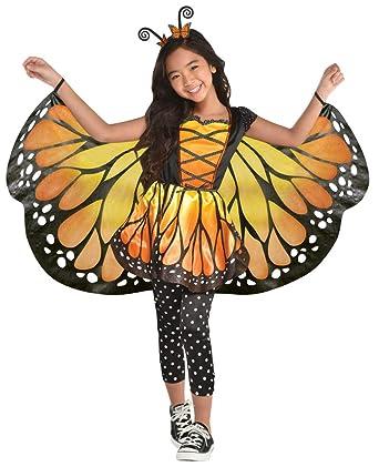 Disfraz de Mariposa para niña, con alas XXL y Diadema para el Pelo ...
