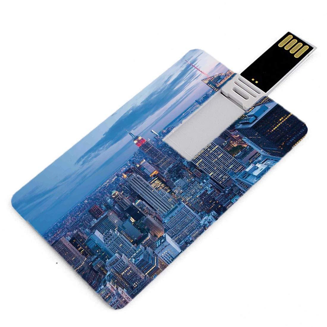 64GB Forma de tarjeta de crédito de unidades flash USB Nueva York ...