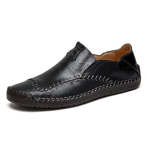 a300dcc1fd Mocasines Hechos a Mano de Cuero Genuino de los Hombres Zapatos Casuales  Marca de Lujo para Hombre Mocasines Italianos s Zapatillas de Deporte  Formales ...