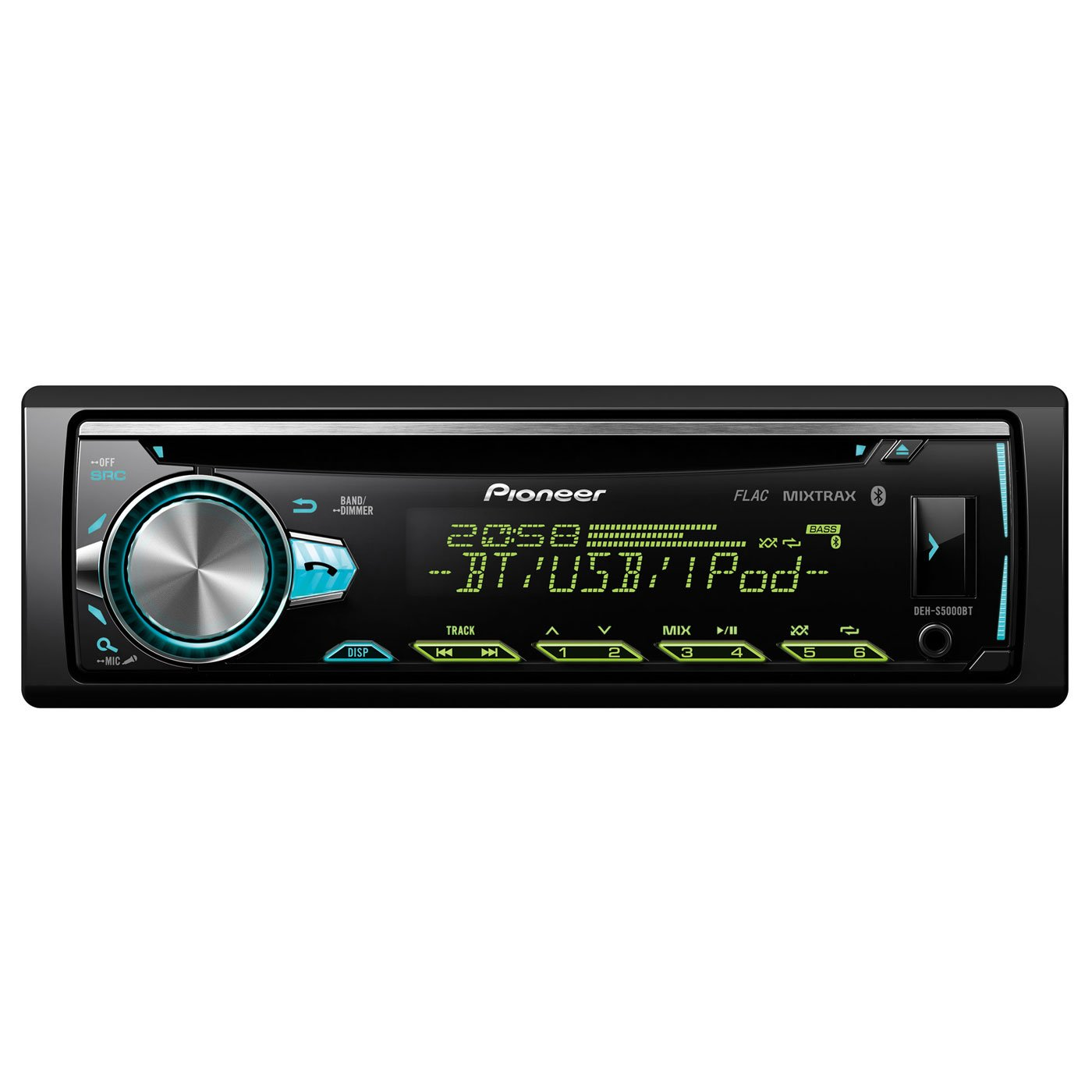 Pioneer DEH-S5000BT | 1DIN Autoradio | CD-Tuner mit RDS | Bluetooth | MP3 |  USB | AUX-Eingang | Bluetooth Freisprecheinrichtung | Multi-Color Tastenbeleuchtung | ARC | Karaoke Mic Mixing | Spotify