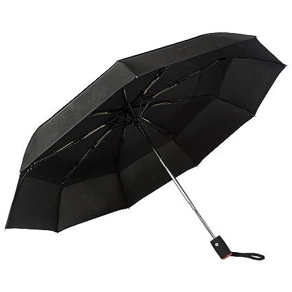 Paraguas Plegables Automático Antiviento. Paraguas Originales Mujer y Hombre Ligero Resistente y Compacto. Varillas Fibra de Vidrio Tela Reforzada ...