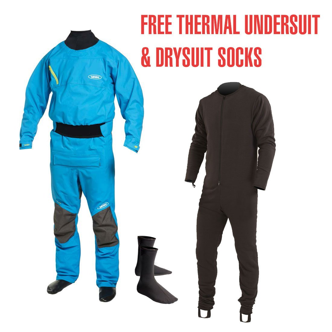 Yak Vanguard Whitewater/Kayak Drysuit in Blue 2734: Amazon ...
