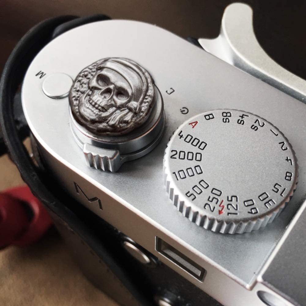 Skull Style Camera Button Shutter Release Hand Forged Soft Release Button