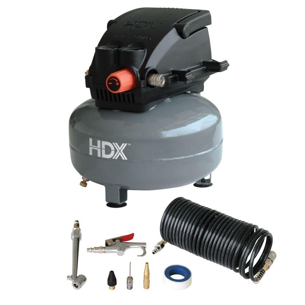 HDX 0110124A Pancake Air Compressor with 13 pcs.