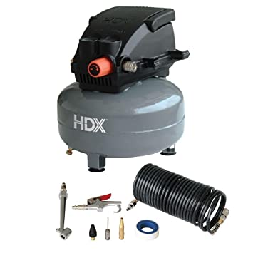 Amazon.com: HDX 0110124A Pancake Air Compressor with 13 pcs.: Home Improvement