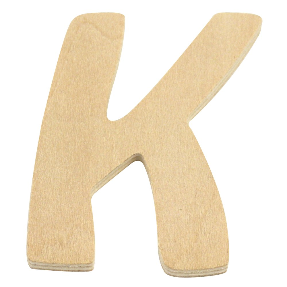 Rayher Hobby 6194000 Holz-Buchstabe, 6 cm, K
