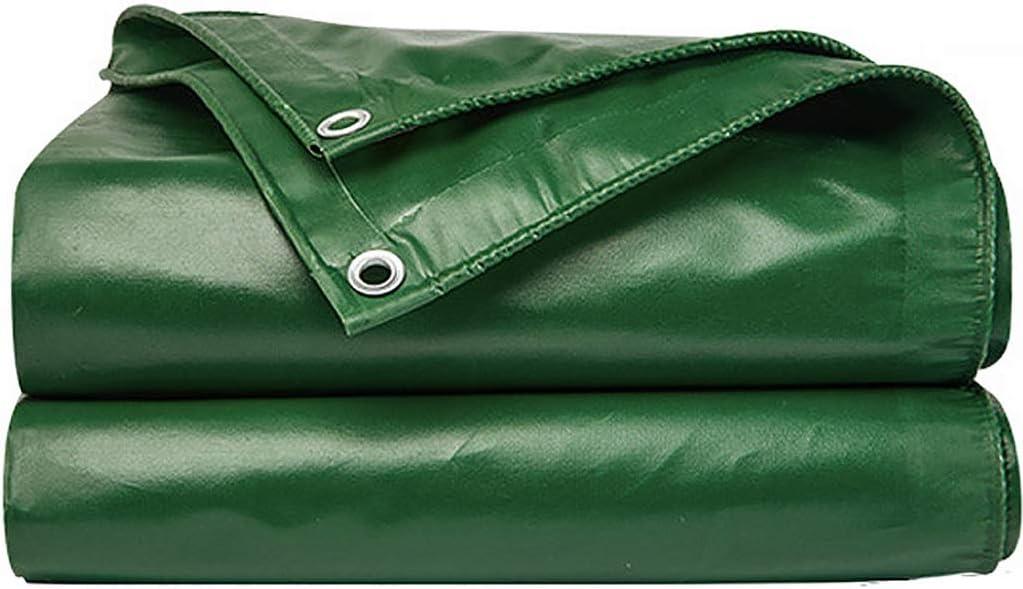 ZMQ Lona Impermeable Exterior Lluvia de PVC Gruesa Tela Impermeable al Aire Libre a Prueba de Lluvia de Protección Solar Triciclo Parasol Lona Impermeable (Color : Green, Size : 26.4x33ft/8x10m)