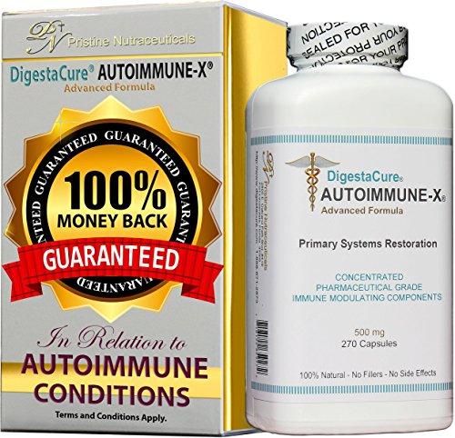 DigestaCure AUTOIMMUNE-X 270 Capsules. Autoimmune Disease; You need more than Immune Support, Defense, or a Booster. Full Immune System Restoration Eliminates the Root-Cause; Autoimmune Attack. by DigestaCure® AUTOIMMUNE-X®