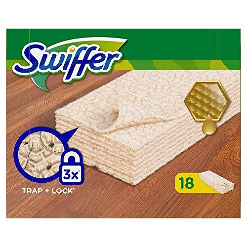 Swiffer Holz & Parkett Wischtücher Nachfüllpackung, 6er Pack (6 x 18 Tücher)