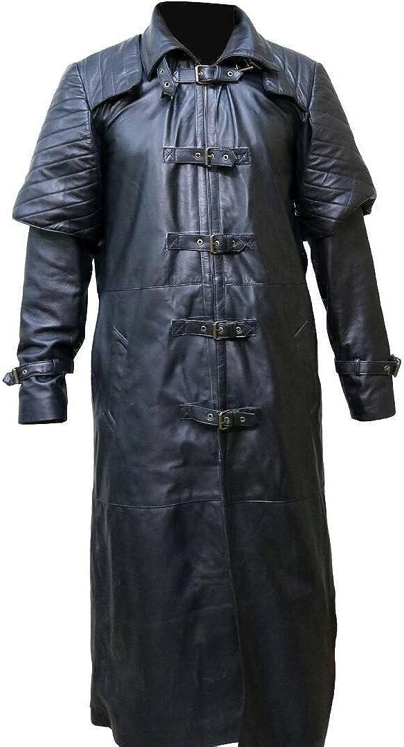 XXS to 3XL Van Helsing Hugh Jackman Vampire Halloween Faux Leather Coat