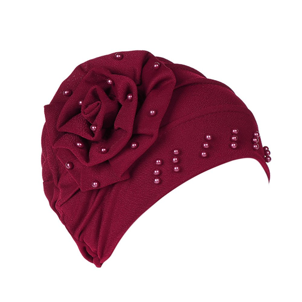 dc670cc9 Great Fit for All Head Sizes???????? Women Muslim Stretch Turban Hat Chemo  Cap Hair Loss Head Scarf Wrap Hijib Cap Women Muslim Solid Flowers Ruffle  Cancer ...