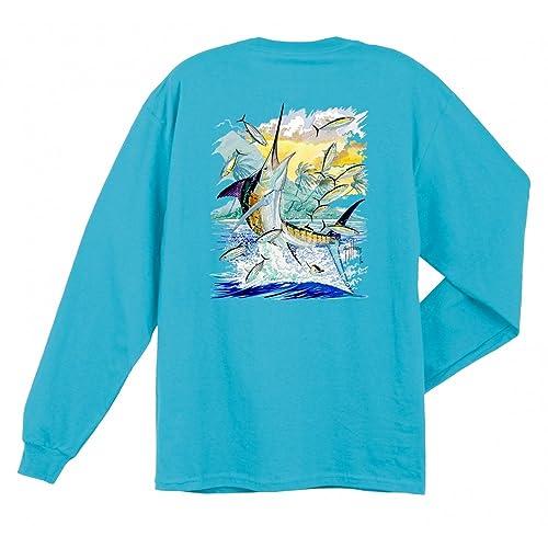 b5d39a47 Amazon.com | Guy Harvey Island Marlin T-Shirt XX-Large Aquatic blue ...