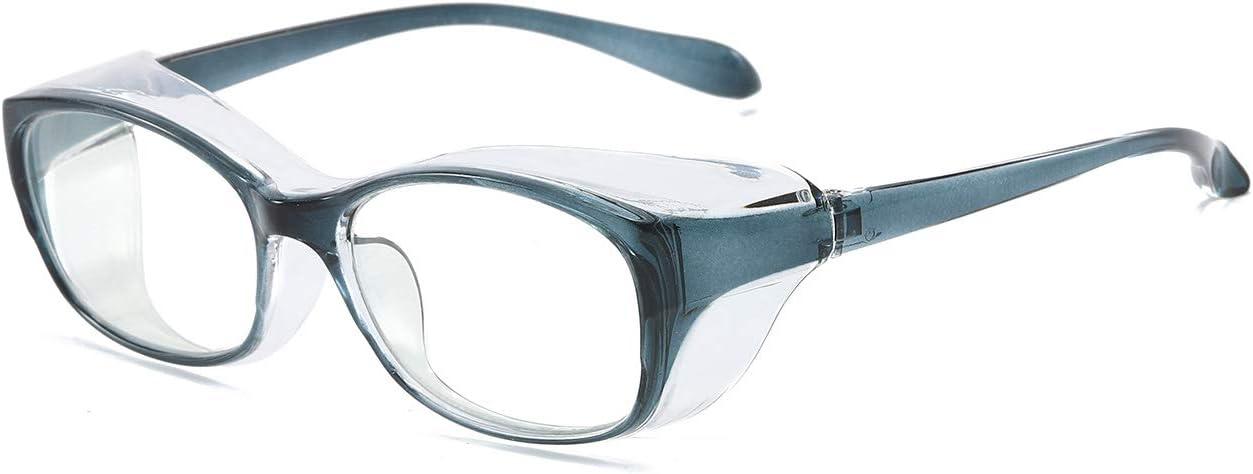 KoKoBin Gafas de protección antivaho y anti saliva, ultra violeta, HD, para hombres y mujeres, color azul