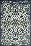 Cheap Super Area Rugs Ivory Rug Traditional, 4-Foot 11-Inch X 7-Foot 5-Inch Soft Medallion Border Rustic Distressed Vintage Antique