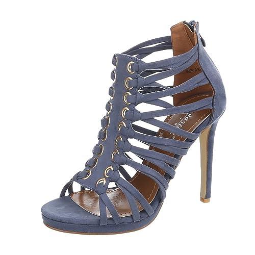 Ital-Design - Aperte Sulla Caviglia Donna , blu (Dunkelblau), 36