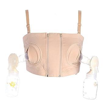 96e160351b Lonior Hands Free Breastpump Pumping Bra Women Double Breast Pump Bra(XS