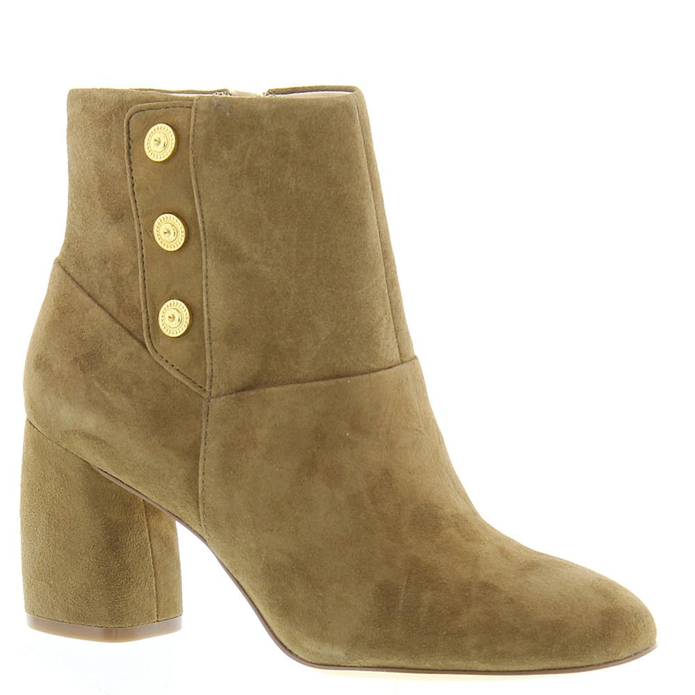Nine West Women's Kirtley Leather Ankle Boot B071HQ9MVW 11 B(M) US|Green Suede