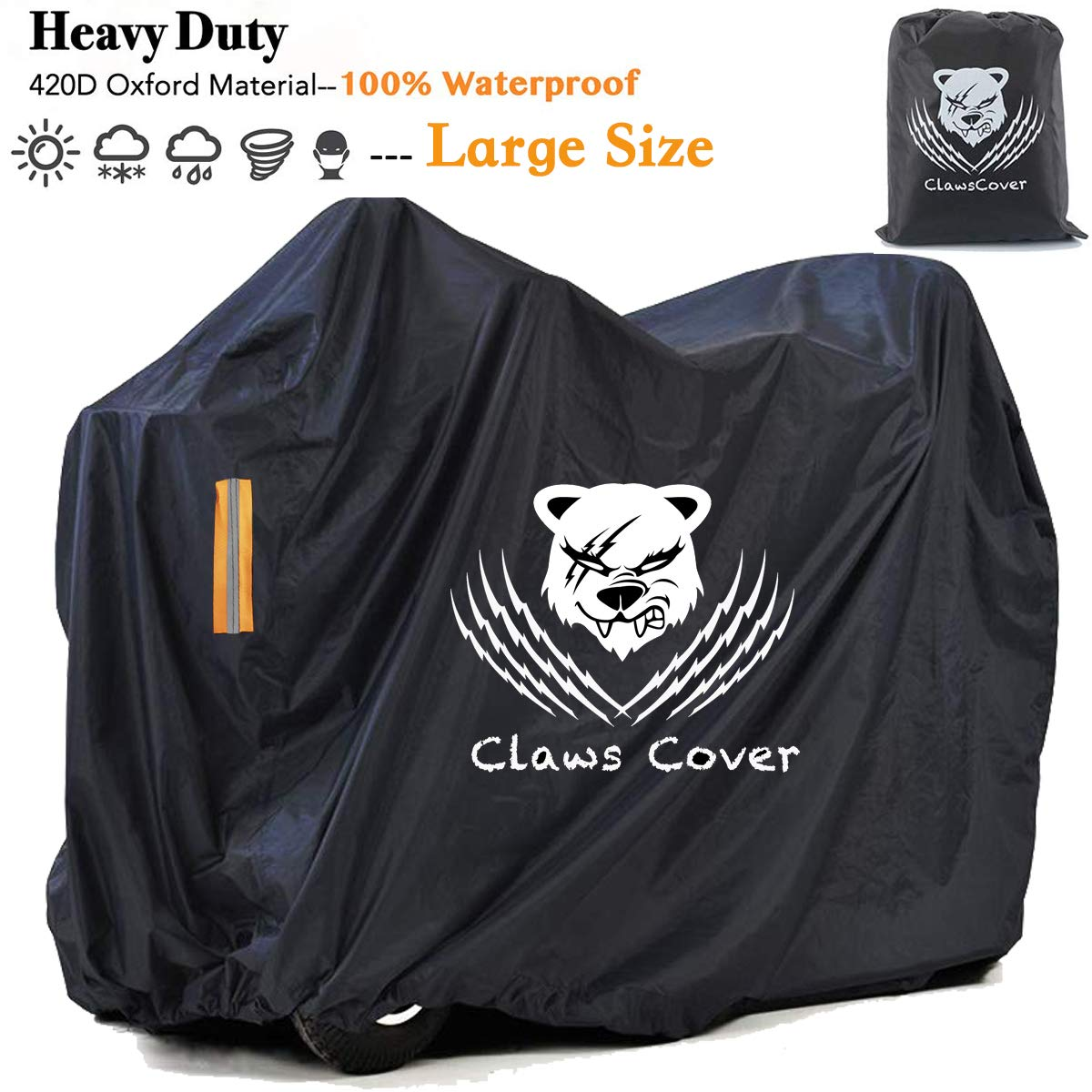 Professional Mobility Scooters Storage Covers with 2 Vents Outdoor,Waterproof & Windproof Wheelchairs Cover Durable All Weather Electric Power Assisted Sun Dust Protector Bags-56L x 26W x 36H Inch by ClawsCover