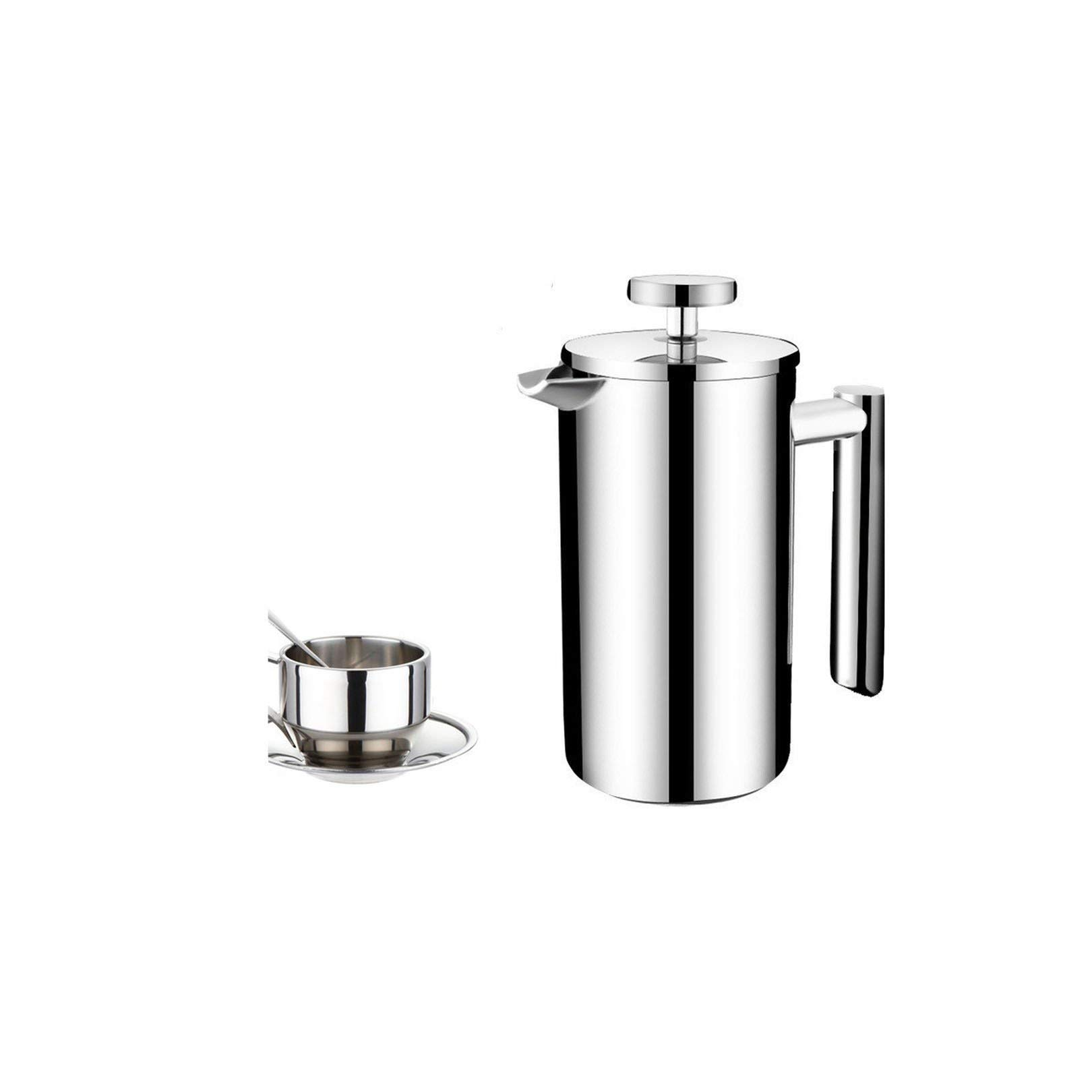 Coffee-Percolators Stainless Steel Double Layer Coffee Pot With 150Ml Mugs,800Ml Pot