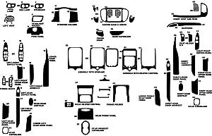 Rvinyl Rdash Dash Kit Decal Trim for Ford Expedition 2000-2002 - Wood Grain (Burlwood Honey)