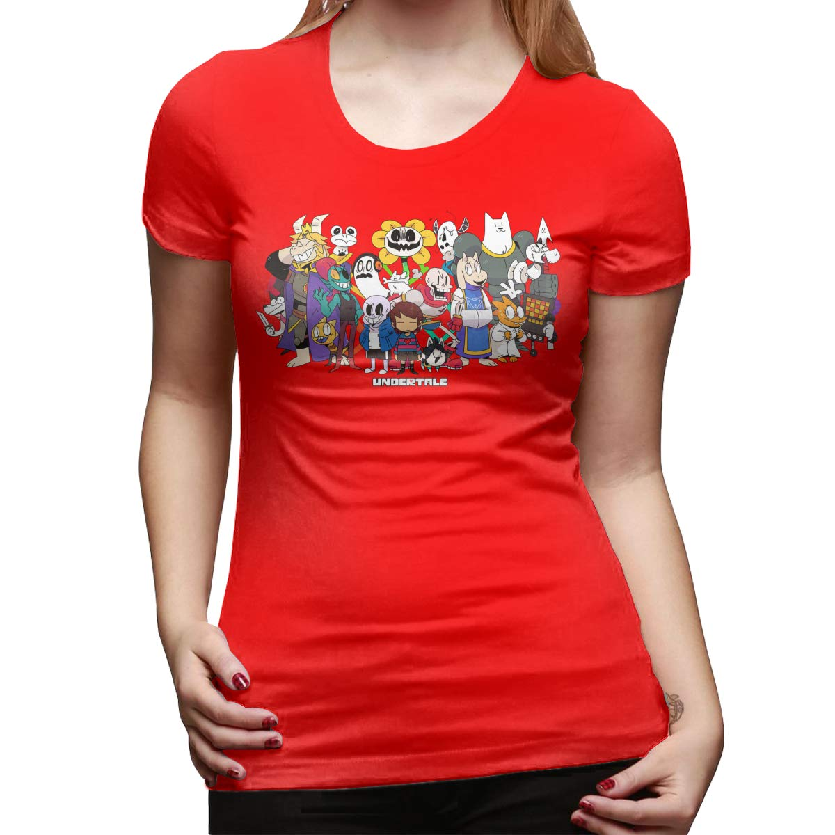 22 Short Sleeve Funny Shirt for Women Black KunYuHeng Personalized Undertale