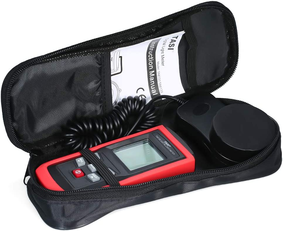 DZSF Handheld Light Photometer UT383S Mini LCD Luminometer Digital Photometer Luxmeter Light Meter 0-199999 Lux