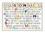 Stupell Home Décor Classroom Rules Colorful Alphabet Wall Plaque Art, 10 x 0.5 x 15, Proudly Made in USA