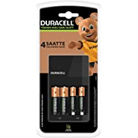 Duracell CEF 14 Şarj Aleti + 2'şer adet AA ve AAA Pil (Duracell 4 saat Şarj Cihazı, 1 adet)