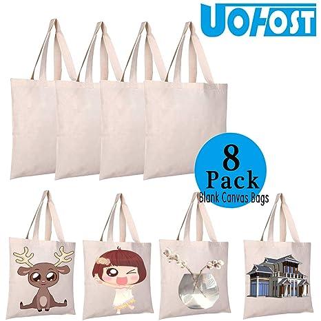 Amazon.com: UOhost - Bolsas de lona para la compra de ...