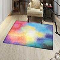 Outer Space Rug Kid Carpet Watercolor Nebula Colorful Galaxy Stars Universe Dreamy Cosmos Celestial Art Home Decor Foor Carpe 3x4 Multicolor