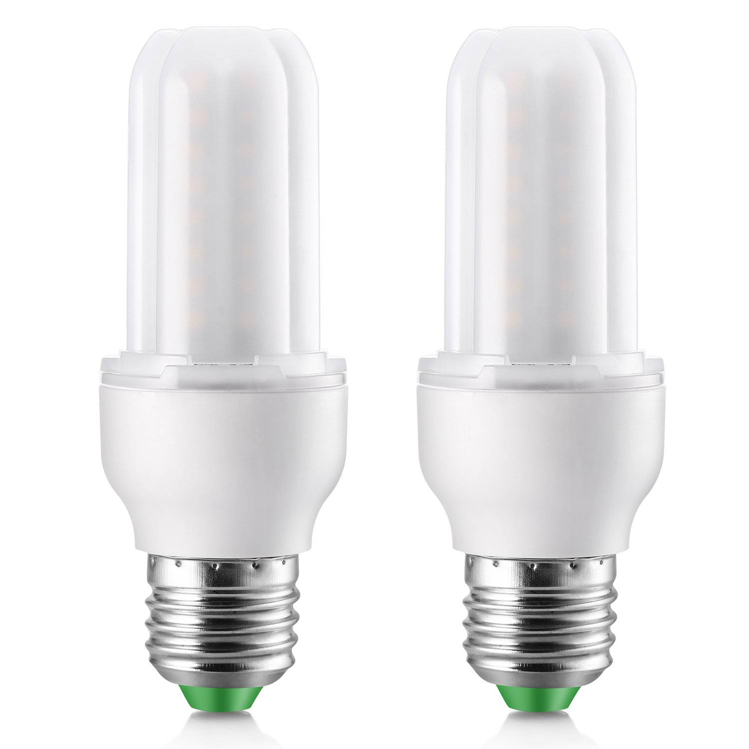 7W dimmable E26 Base 6000K Elrigs LED Light Bulb//Stick Daylight 700lm 60W Equivalent Pack of 2