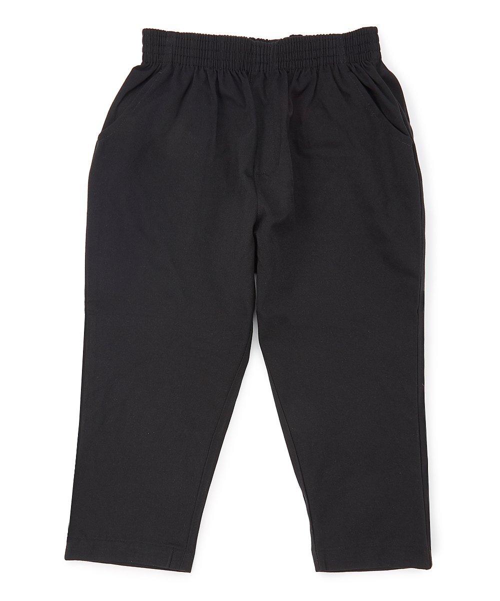 unik Boy's Uniform All Elastic Waist Pull-on Pants Extra Husky Black 6