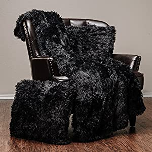 """Chanasya Super Soft Shaggy Chick Longfur Throw Blanket - Snuggly Fuzzy Faux Fur Lightweight Warm Elegant Cozy Sherpa - For Couch Bed Chair Sofa Daybed - 50""""x 65"""" - (Machine Washable) - Solid Color from PurchaseCorner"""