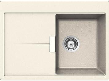 Schock Horizont D 100 S A Magnolia Granit Spüle Beige Küchenspüle Einbau  Klein