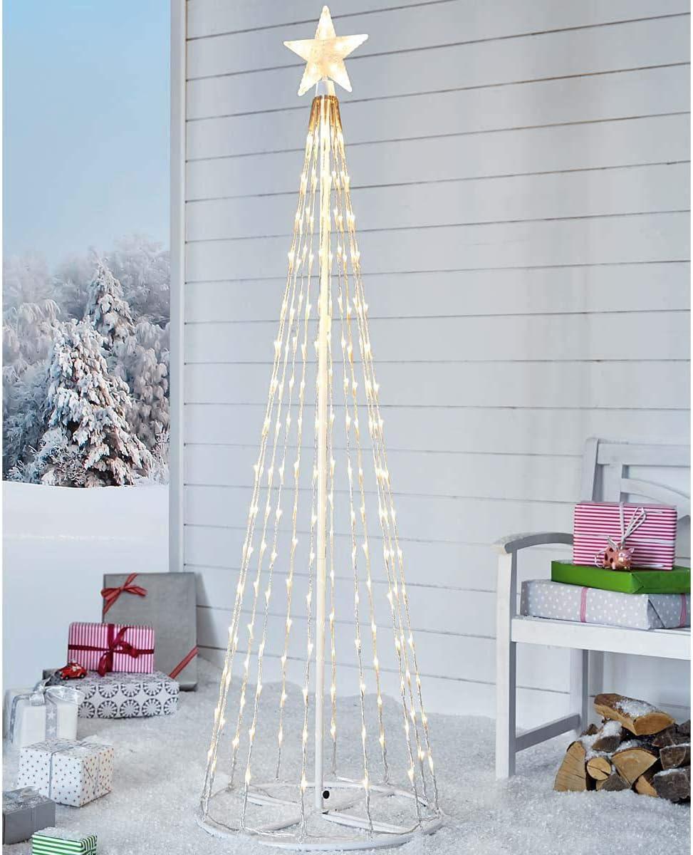 Pureday Decoración navideña - árbol de Navidad con 202 LED - Moderno - Blanco: Amazon.es: Hogar