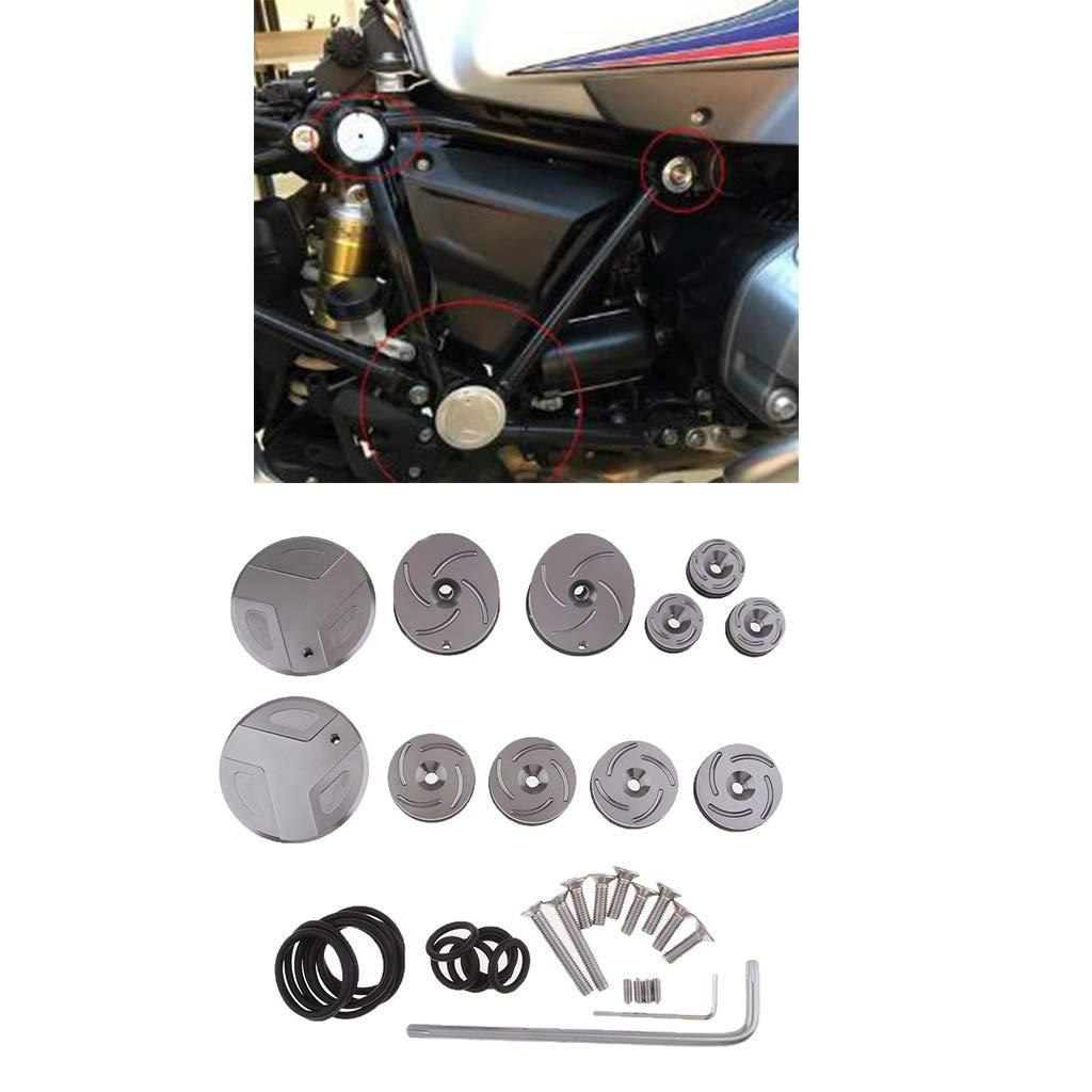2015 2017 Baoblaze 1 Set Silver Frame Hole Caps Decor Covers Plugs Kit for BMW ADV R1200RT 2014 2016