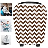 Multi-Use Organic Cotton Nursing Breastfeeding Cover Baby Car Set Cover Canopy Shopping Cart Cover Swaddle Blanket for Infants Newborns Toddlers Shower Gift (Q)