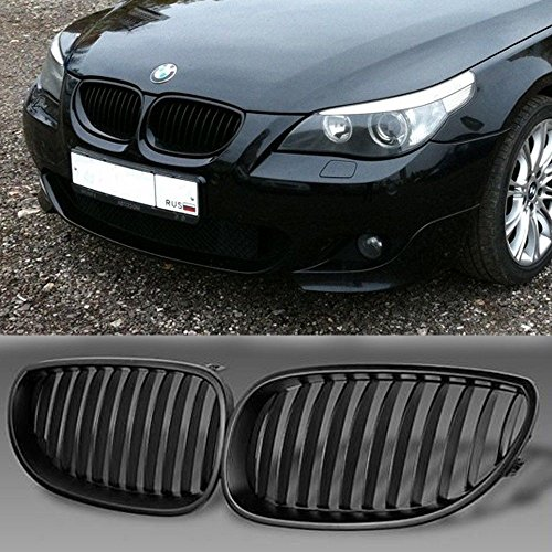 YUK Front Black Sport Wide Kidney Grilles Grill For BMW E60 E61 M5 5 Series 2003-2009 - Wide Style Grille