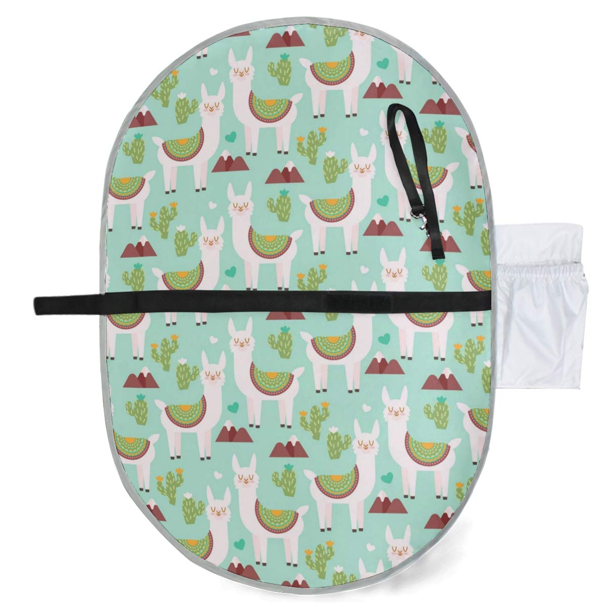 Diaper Bag Mat Waterproof Baby Changing Pad Stroller Strap,Side Pocket for Wipes Diaper| for Infants /& Newborns Portable Diaper Changing Pad Foldable Travel Changing Station