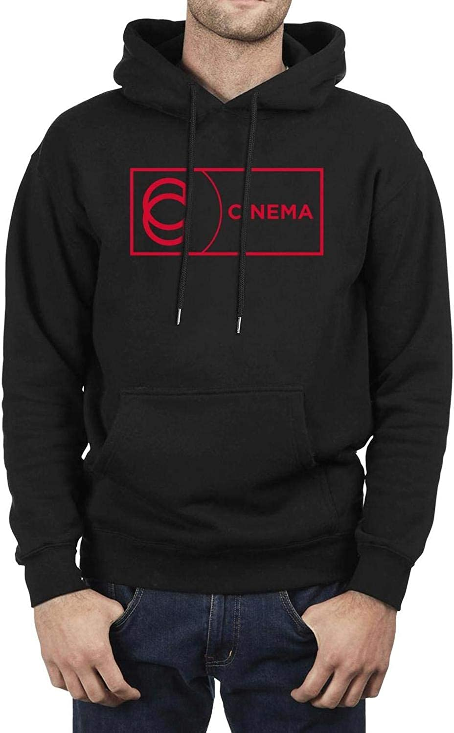XQHNG Cinema-Logo Mens Casual Pullover Hoodies Long Sleeve Sweatshirts